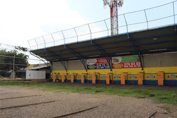 Cancha de tejo en las Vegas Barranquilla