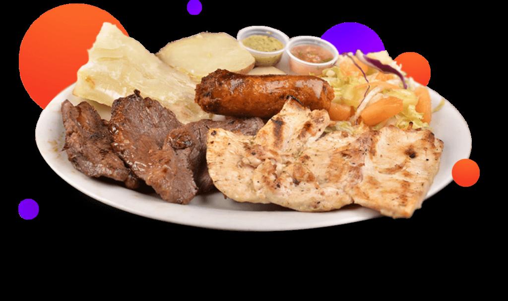 Platos de comidas, asados, en Las Vegas Club