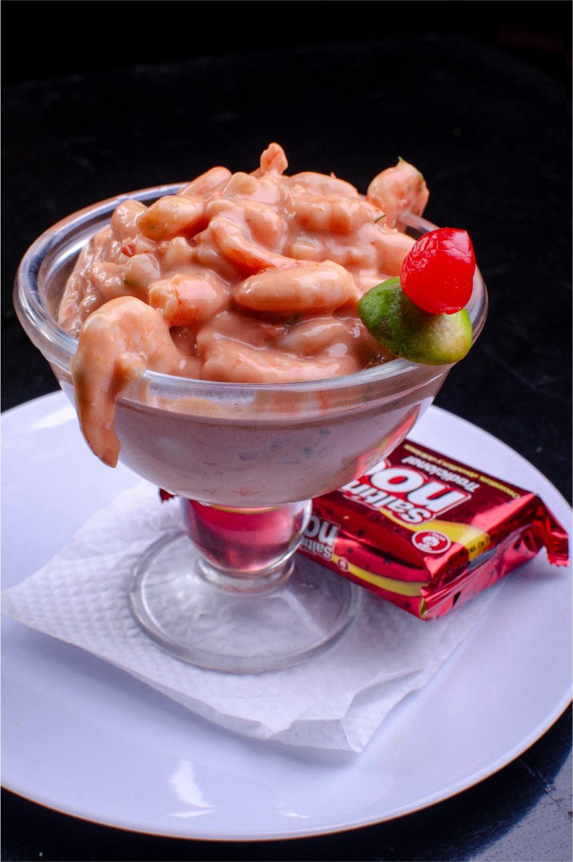 Coctel de Camaron las vegas menú