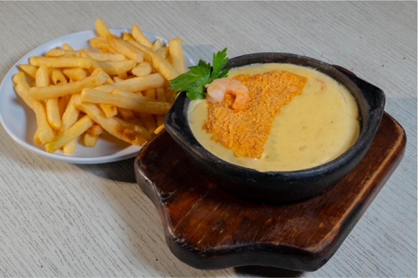Crema de Camaron las vegas menú