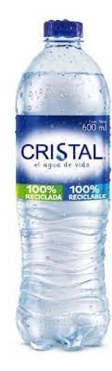 Agua botella cristal de 600 ml