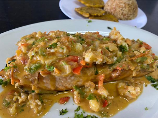 Filete de salmón a la vizcaina